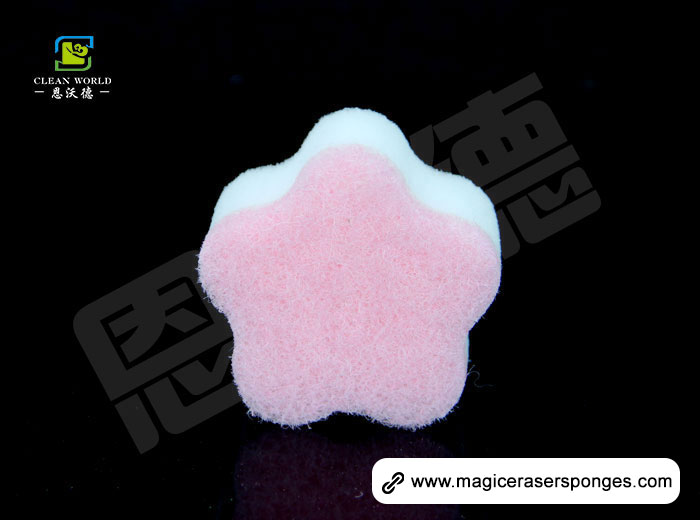 Flower shape Compound Nano Eraser Sponge