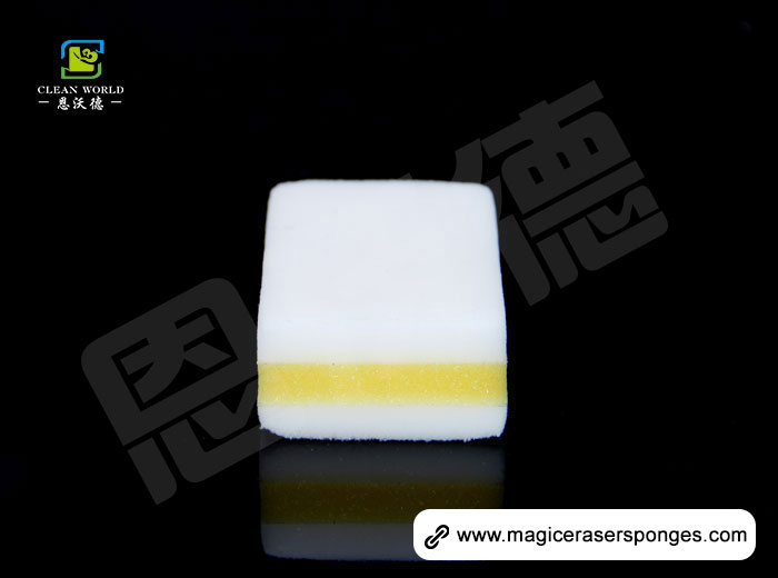 yellow with white compound magic sponge