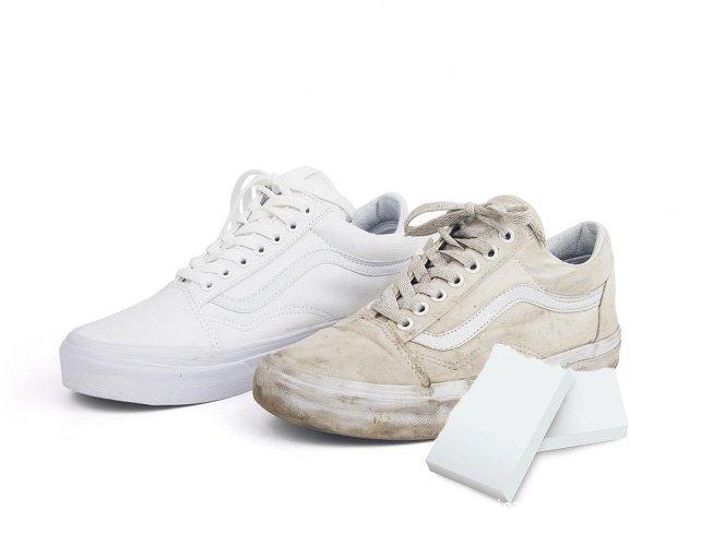 Melamine Eraser White Shoes